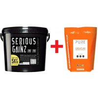 Serious Gainz Protein (5kg) + Creatine Powder Bundle (250g)