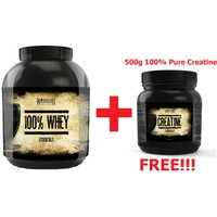 Warrior 100% Whey 2.2kg & Warrior 500g Creatine FREE!