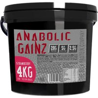 Image of Anabolic Gainz Strawberry 4kg Mass Gain Supplement The Bulk Protein Company