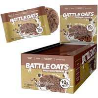 Image of Protein Cookies 12 x 60g -Mocha Chocolate Chip Bodybuilding Warehouse Battle Oats