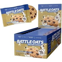 Image of Protein Cookies 12 x 60g -Chocolate Chip Bodybuilding Warehouse Battle Oats