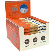 Image of Premium LUX Protein Flapjack - Blueberry Yogurt 1 Box 24x75g Bars Bodybuilding Warehouse