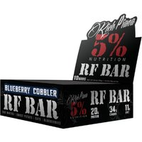 Image of Rich Piana Real Food BARS 10 x 75g-Blueberry Cobbler Bodybuilding Warehouse 5% Nutrition