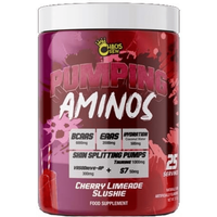 Image of Pumping Aminos (25 Servings) - Grape Watermelon Slushie BCAA & EAA Chaos Crew