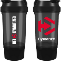 Image of Compartment Shaker Bottle 500ml - Black / Red Bodybuilding Warehouse Dymatize