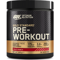 Image of Gold Standard Pre-Workout - Caffeine & Creatine 30 Servings-Fruit Punch Supplements Optimum Nutrition