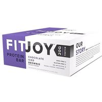 Image of Protein Bar (12 Bars) Chocolate Brownie Bodybuilding Warehouse FitJoy