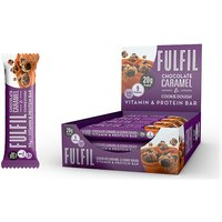Image of Vitamin and Protein Bar - 12 Bars- Chocolate Caramel Cookie Dough Bodybuilding Warehouse Fulfil