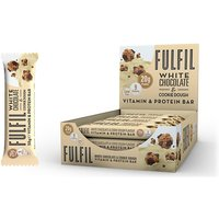 Image of Vitamin and Protein Bar - 12 Bars-White Chocolate Cookie Dough Bodybuilding Warehouse Fulfil
