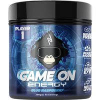 Image of Game On Blue Raspberry 200g Gaming Drinks Nootropic Player1