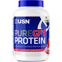 Image of Pure GF-1 Protein - 2.28kg-Strawberry Bodybuilding Warehouse USN