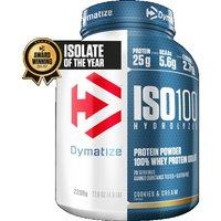 Image of ISO 100 - 2.2kg Cookies and Cream Bodybuilding Warehouse Dymatize