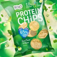 Image of Nutrition Protein Chips 6 x 30g-Sour Cream and Onion Bodybuilding Warehouse Novo