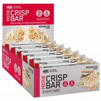 Image of ON 100% whey crisp protein bar 10 x 65g-Marshmallow Protein Bars Optimum Nutrition
