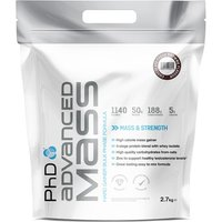 Image of PhD Advanced Mass - 2.7kg-Strawberries and Cream Gain Supplement Nutrition