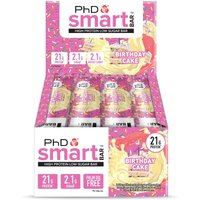 Image of PhD Nutrition Protein Bars PHD Smart 12 x 64g-Birthday Cake