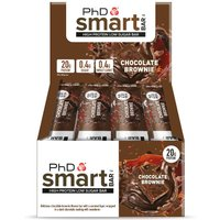 Image of PhD Nutrition Protein Bars PHD Smart 12 x 64g-Chocolate Brownie