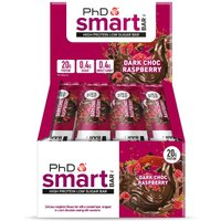 Image of PhD Nutrition Protein Bars PHD Smart 12 x 64g-Dark Chocolate Raspberry
