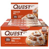 Image of Protein Bars - 12 Bars-Cinnamon Roll Meal Replacement Quest