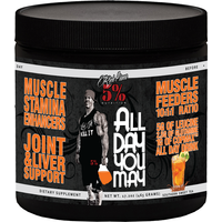 Image of Rich Piana ALL DAY YOU MAY (30 Servings) - Sweet Tea Post-Workout Supplements 5% Nutrition