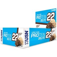Image of Low Carb Protein Delite 22 Bar 12 x 60g-Chocolate Brownie Bodybuilding Warehouse USN