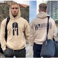 Image of Warrior Hoodie - Desert Sand Large Bodybuilding Clothing Gym Wear