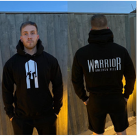 Image of Warrior Hoodie - Jet Black Large Bodybuilding Warehouse Gym Wear