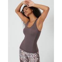 Activewear Vest Top - Mink