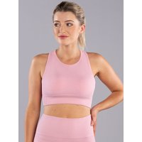 Boux Avenue                   Ribbed seamless crop top - Pink               - M