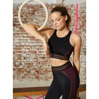 Activewear Copper Open Back Crop Top - Black Mix