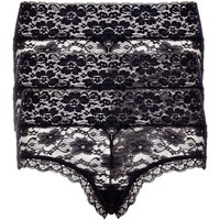 3 Pack Lia Lacey Shorts - Black