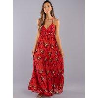 Boux Avenue                   Printed layered maxi dress - Red Mix               - 10