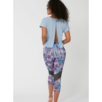Activewear Open Back Tee - Powder Blue