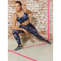 Activewear Galaxy Strappy Crop Top - Navy Mix