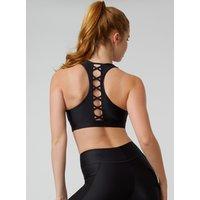 Activewear Lattice Crop Top - Black