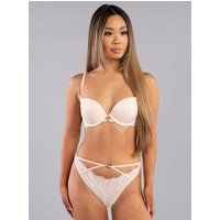 Boux Avenue Amari lace plunge bra - Blush - 30E