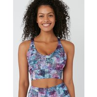 Activewear Abstract Strappy Crop Top - Multicoloured