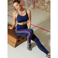 Activewear Galaxy Stripe Crop Top - Navy