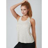 Activewear T-bar Vest - Cream
