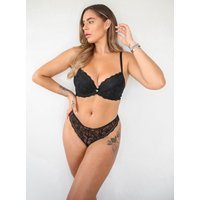 Boux Avenue Mollie lace plunge bra - Black - 36A