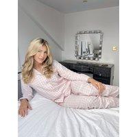 Boux Avenue                   Pink gingham matching pyjamas in a bag - Powder Pink               - 10