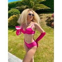 Boux Avenue Lillie lace plunge bra - Raspberry - 32D