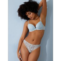 Boux Avenue Mollie lace plunge bra - Powder Blue - 38DD