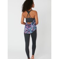 Activewear Abstract Cowl Back Vest - Multicoloured