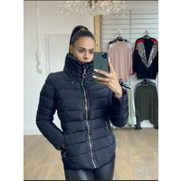 Brodie Black Faux Fur Toggle Padded Coat