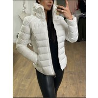 Brodie White Faux Fur Toggle Padded Coat