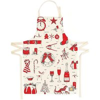Victoria Eggs Christmas Delights Apron Red