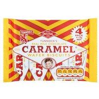Tunnocks Milk Chocolate Caramel Wafers 4 Pack