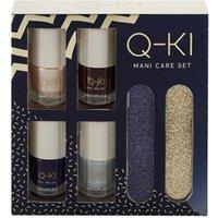 Q-KI Mani-Care Gift Set 4 x 8ml Nail Polish + 2 x Nail File