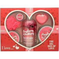 I Love... A Big Box Of Love Raspberry & Blackberry 500ml Bubble Bath + 100ml Sug